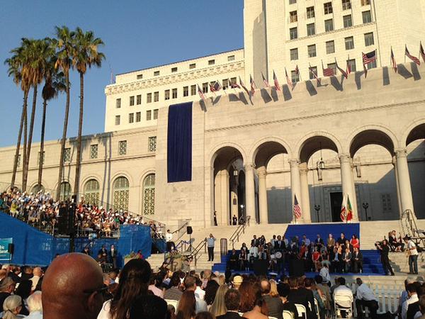 La Mayor Garcetti Inauguration